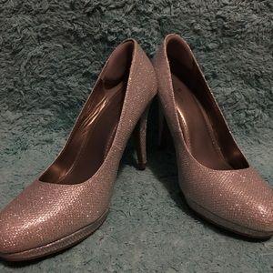 Size 10 Silver Glitter Heels